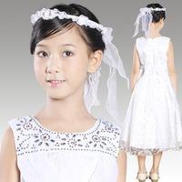 New Arrival Fashion Good Quality Princess Chiffon Vestido de Daminha Flower Girls Pageant Dresses