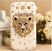 For Galaxy S3 Case fashion Luxury The leopard head diamond Glitter Hard Back Case Cover For Samsung Galaxy S3 i9300