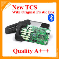 TOP Qaulity A+++ TCS CDP PRO scanner with bluetooth 2014.02 R2 software with keygen tcs + plastic box DHL free