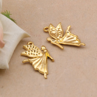 Free Shipping 24K Gold Plated Angel Charms,10pcs/lot DIY  Dance charms,Charms for jewelry making XBL789