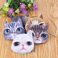 Hot  Lovely Cat Face Cute Card Coin Money Zipper Bag Purse Wallet Zipper Case Pouch children wallet   # L09385(China (Mainland))
