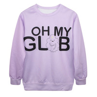 Digital Printing Adventure Time Clouds Loose Hoodies PUNK Sweater Womens Tops Hedging Sweatershirt Pullover Casual Saia Feminina