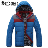 Winter teenage fashion color block casual thermal cotton-padded jacket wadded jacket coat