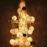 220V 4M 30 LED Fabric Cotton Ball String Fairy Lights Xmas Wedding Party Home Decoration Lamp Bulb