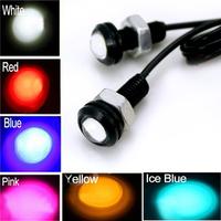 Hot! 10PCS/Lot 6 Colors 12V 9W Eagle Eye LED Car Daytime Running Light Day time Light & Reverse Lamp Stop Parking Tail Light