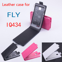 Free Shipping Open up and down PU Leather Case cover for FLY IQ434 , cover for FLY IQ434 ,for FLY IQ434 case,3colors in stock