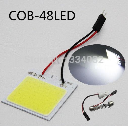 cob led 48 SMD סופר מבריק לבן מנורת הקריאה 12v DC כיפת הנורה רכב אוטומטי הפנים לוח אור t10 לויה ממשק עבור משאית
