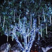 8pcs/lot double side led chip 30CM Shower Rain Meteor Tube LED String Light For Christmas Wedding Garden Tree Decoration Lights