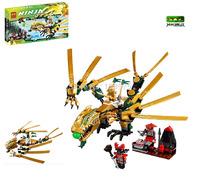 Christmas Gift, Ninjago The Golden Dragon 9793 Building Block Sets 258pcs Educational DIY Construction Bricks Toys For Children