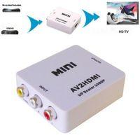 Brand New Mini Composite RCA CVBS AV to HDMI Converter Adapter For VCR DVD 720P 1080P AV2HDMI Adapter