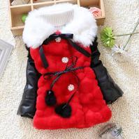 4pc/lot girls coats fur winter high quality 2014 new spliced kids jackets wholesale children clothing PANYA JYF11