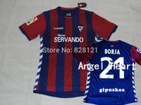 New ! 14/15 Best Thailand Quality Eibar Home Red Blue La Liga Men Soccer Jerseys Football Futbol Sweat Shirt Kit  Custom Name No