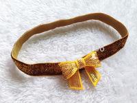 200pcs/lot Glitter Elastic headbands baby headband with Mini Sequins bow  Photo Props