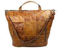 Luxury Vintage Casual 100% Genuine Oil Wax Leather Cowhide Women Tote Handbag Shoulder Messenger Cross Body Bag Bags For Ladies