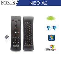 Original MINIX NEO A2 2.4GHZ Wireless Keyboard Air Mouse Remote Control for Android Smart TV Box with Speaker Microphone