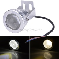 Retail Outdoor Lamp LED 10W 12V Underwater Light Pool Light White/Warm White 2 Colors Free Shipping Fish Tank Waterproof B16