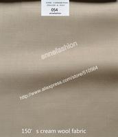 2015-Free shipping Aspring/Autumn 150's cream wool fabric