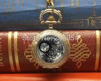 Handmade uk movie Doctor who Gallifreyan antique pocket watch 1pcs/lot necklace pendant wholesale steampunk style for xmas gift