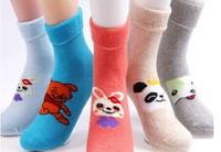 2014Boys and girls winter nap thick warm socks cartoon socks