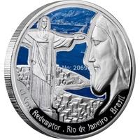 New!!!!Free shipping 10pcs/lot Brazil Principat Dandorra silver plated coins 40*3mm