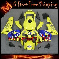 * INJ Fairings For HONDA CBR600RR 2003 2004Fairing Set Yellow Blue Bodywork Plastic Fit  CBR600RR 2003 2004 32FR W7- INJECTION M