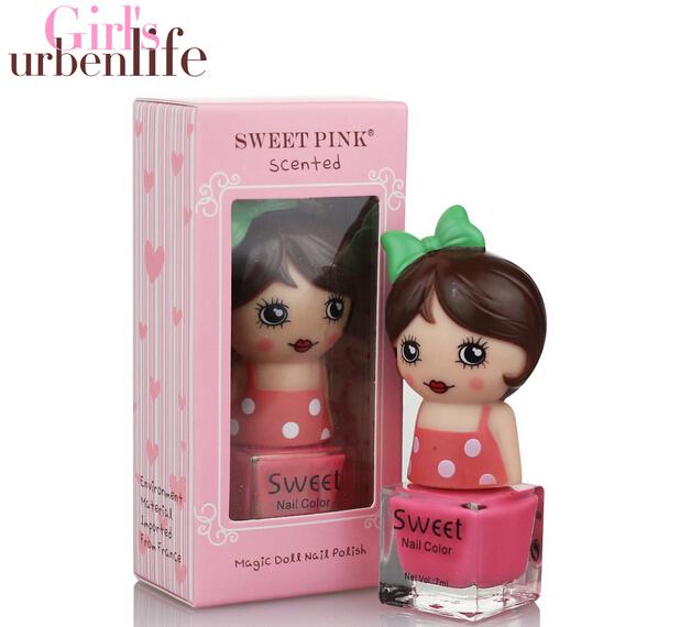 12pcs Magic Doll Kids Nail Polish No DBP/Formaldehyde/Toluene Children Cosmetic Kids Makeup Evironment Friendly Nail polish(China (Mainland))
