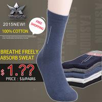 High quality 100% cotton Business warm brand socks for men Men's sports winter socks christmas gift breathe freely absorb sweat