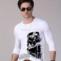 Star Wars T Shirts Men Darth Vader Mens ShirtO Neck Long Sleeve Man Tees Casual Style Euro Size Tops Free Shipping