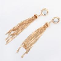 2014 11.11 promotion  Fashion for ladis long tassel earring statement earring