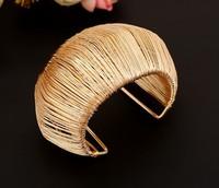 Fashion Bracelets Arched Openings Bangle