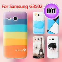 New Fashion Cute Printed Colored Drawing Plastic Back Case For Samsung GALAXY Trend 3 G3502 Cover Free shipping