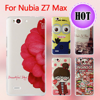 New Fashion Cute Printed Colored Drawing Plastic Back Case For Nubia Z7 Max Cover Free shipping