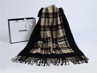 high quality fashion cambirdge winter warm wool Cashmerescarf salomon foulard echarpe femme luxury women casual plaid scarves