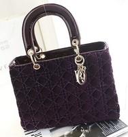 Free shipping 2015 new women handbag fashion Princess wave bag lady bag shoulder handbag baodan foreign trade handbags
