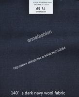 2015-Free shipping 120's dark navy wool fabric