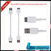 22CM Micro B USB 3.0 Data Sync Charging Cable for Samsung Galaxy Note 3 III S5 i9600 N900 N9000 N9002 N9008 White free shipping