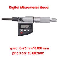 High Precision Micrometer Head digital electronic mirometers Micrometer head 0-25mm*0.001mm