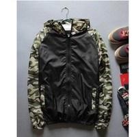 2014 New Fashion casual Men Ultra-light Outdoor Sport Waterproof Jacket Quick-dry Skinsuit men sweatshirt Outwear sports suit
