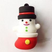Lovely Pen drive Christmas cute snowman USB flash drive 2.0 Pen stick memory U disk 4GB 8GB 16GB 32GB