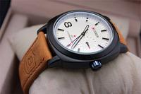 new Brand Men Sport Military water Quartz Watch PU Leather Strap Curren Wristwatches