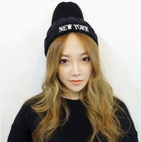 NEW YORK 2014 new autumn and winter wool hat knitted hat embroidered letters tide Korean wild pointy hat
