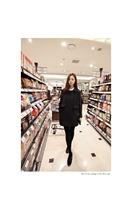 2014 New Hitz Korean fashion women coat fall  woolen coat girls long Korean straight barrel type loose coat in autumn and winter