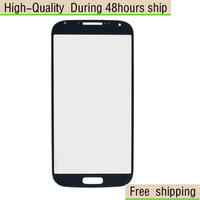 White Black Blue Replacement LCD Front Screen Glass Lens For Samsung Galaxy S4 i9500 i9505 i545 Free Shipping