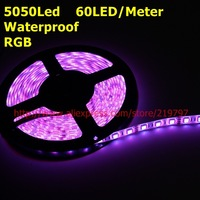 LED Strip RGB 5050 300led Waterproof 60LED/M DC12V 72W/5M flexible strip outdoor Christmas light +controller+ 2sets + China post