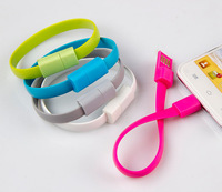 2014 New Style Noodle Flat Portable Bracelet Wristband USB Charger Data Sync Cable Cord For Samsung S4 S3 Note 2 HTC M8 Sony Z3