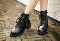 2014 winter double zipper crude martin boots for women