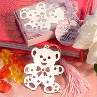 Lovable Teddy Bear Design Bookmarks - Pink Baby Girl Party Favors Bookmark Gift +10pcs/lot+FREE SHIPPING