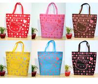 Hello Kitty Bag  retail 1 PCS  Shopping Bag Hand Bag  canvas handbags shoulder tote bags