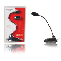 GORSUN GS-V30 3.5mm Desktop Microphone for Laptop PC (Black)