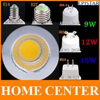 GU10 GU5.3 E27 E14 MR16 15W 12 W 9W Dimmable COB LED Sport light lamp led bulb warm cold white DC12V AC110V 220V 240V
